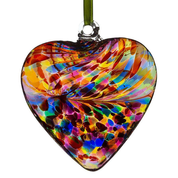 Sienna Glass 12cm Friendship Heart - Multicoloured