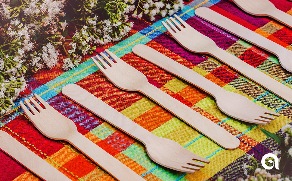 Disposable Wooden Forks by Aevia