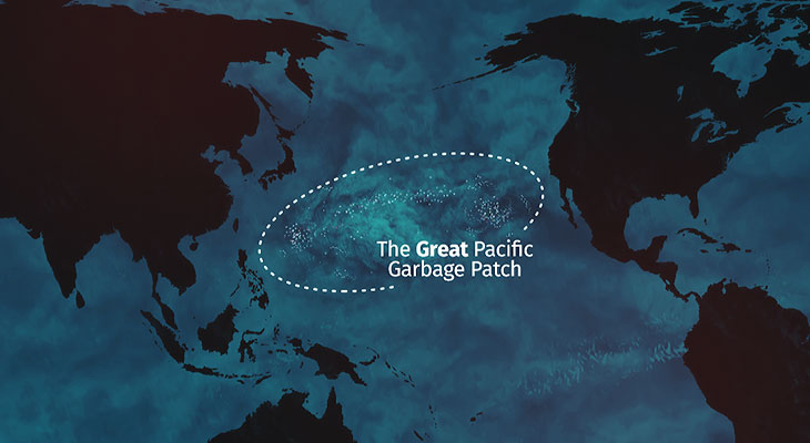 The Great Pacific Garbage Patch - Illustration for Aevia