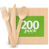 Disposable Wooden Cutlery (200 pack)