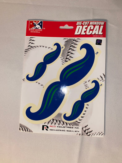 Mustache Die Cut Decals