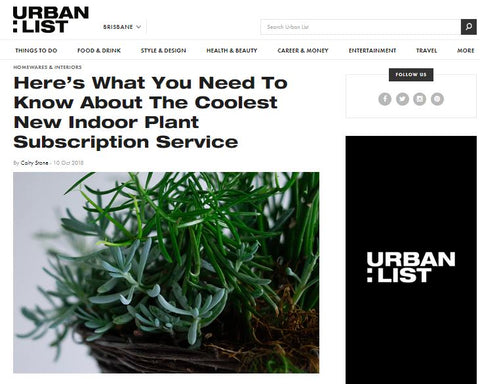 Urban List Brisbane Botanic Box Australia Plant Subscription Service