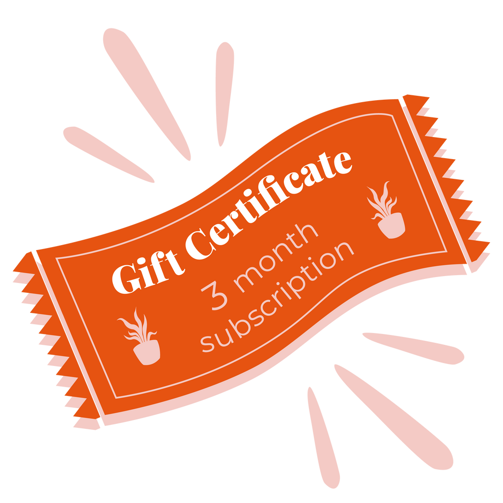 Gift Certificate - Three Month Botanic Box Subscription