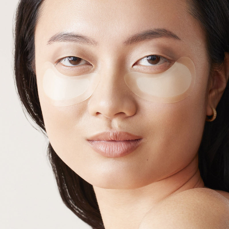 Photo of model wearing Microneedle patches