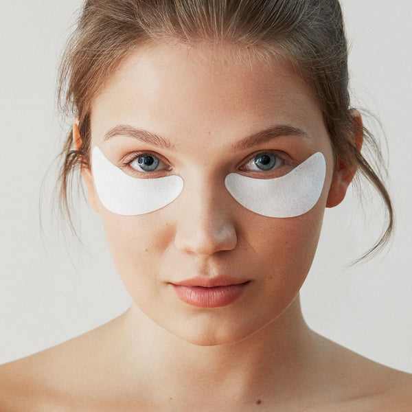Photo of Model wearing Hydro Cool Firming Eye Gels