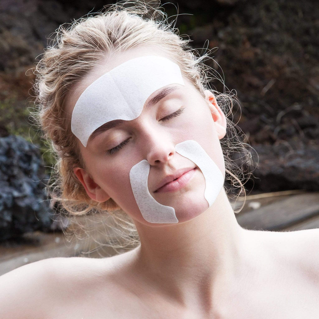 Photo of model wearing Hydro Cool Firming Face Gels