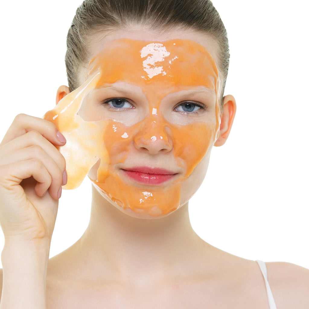 Photo of model wearing Arctic Hydration Rubberizing Mask