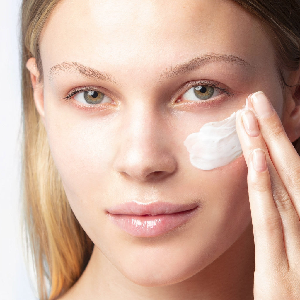 Model with Arctic Repair Cream