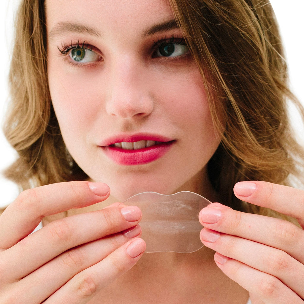 Photo of model with lip gels