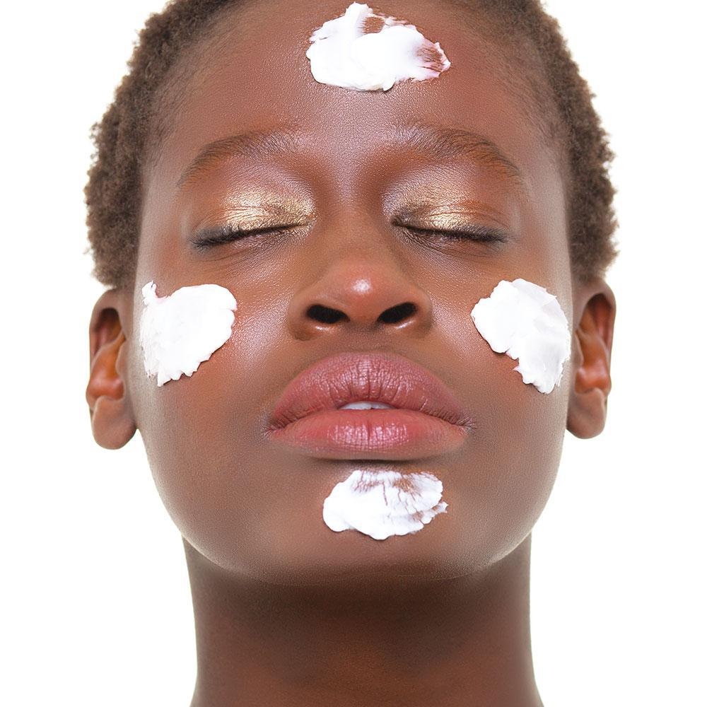 Photo of model with Pure Cloud Cream on