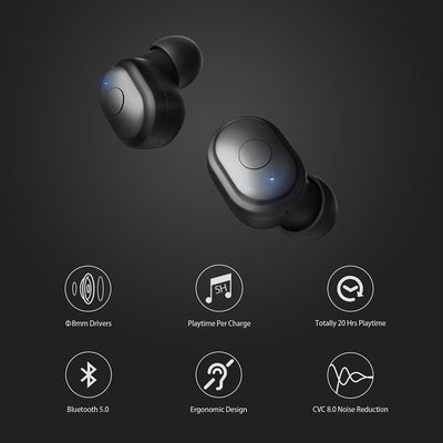 8mm Speaker Wireless Headphones