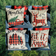 Red and Black Plaid Cut Out Christmas Pillow Covers, With or Without Pillow Insert