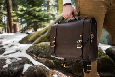 Porter Satchel // Dark Brown