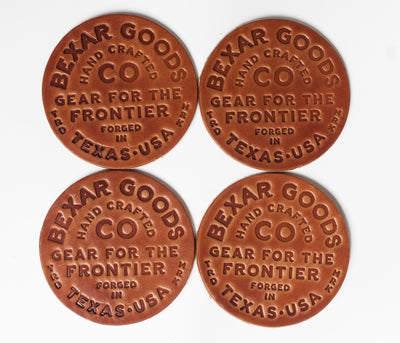 Gear for the Frontier Leather Coasters