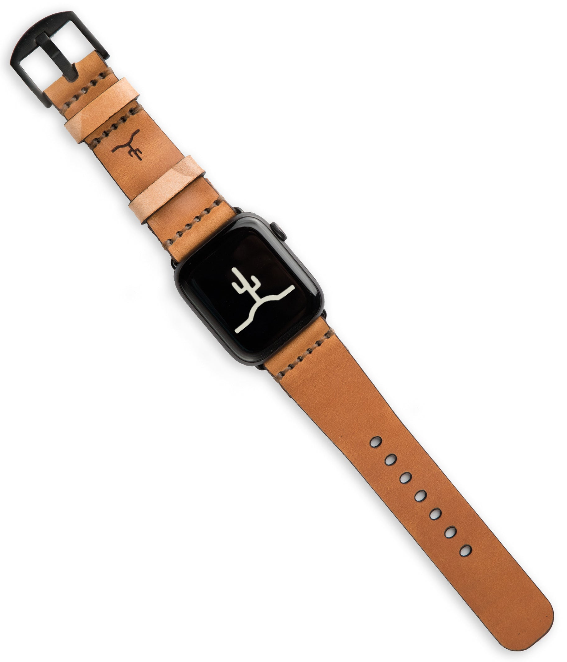 Apple Watch Strap // Whiskey Cordovan + Sand Camo
