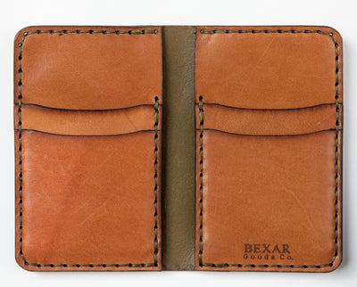 Vertical Card Wallet // Woodland