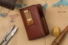 One-of-a-kind Vertical Card Wallet with Money Clip