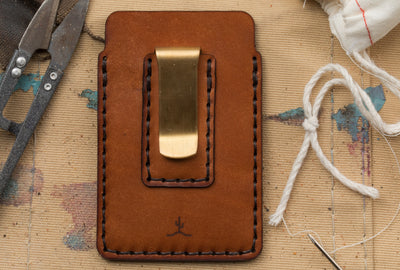 One-of-a-kind Simple Card Wallet with Money Clip