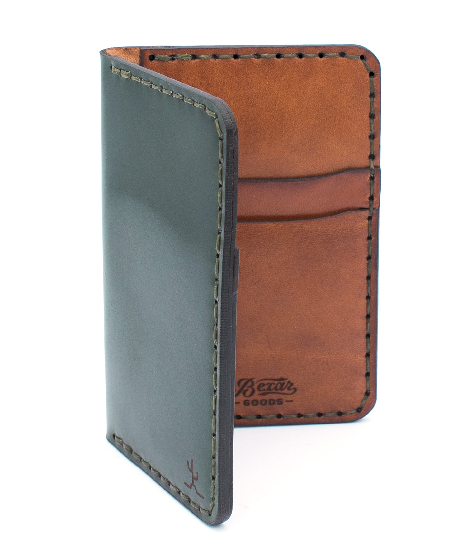 Vertical Wallet // Forest Green Cordovan