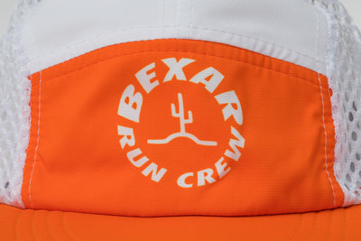 Run Crew Endurance Cap // White + Orange