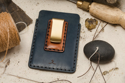 One-of-a-kind Simple Card Cordovan Wallet with Money Clip