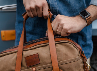 Waxed Canvas Messenger Bag