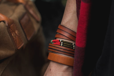 Medium Brown Snare/Fishtail Cuff