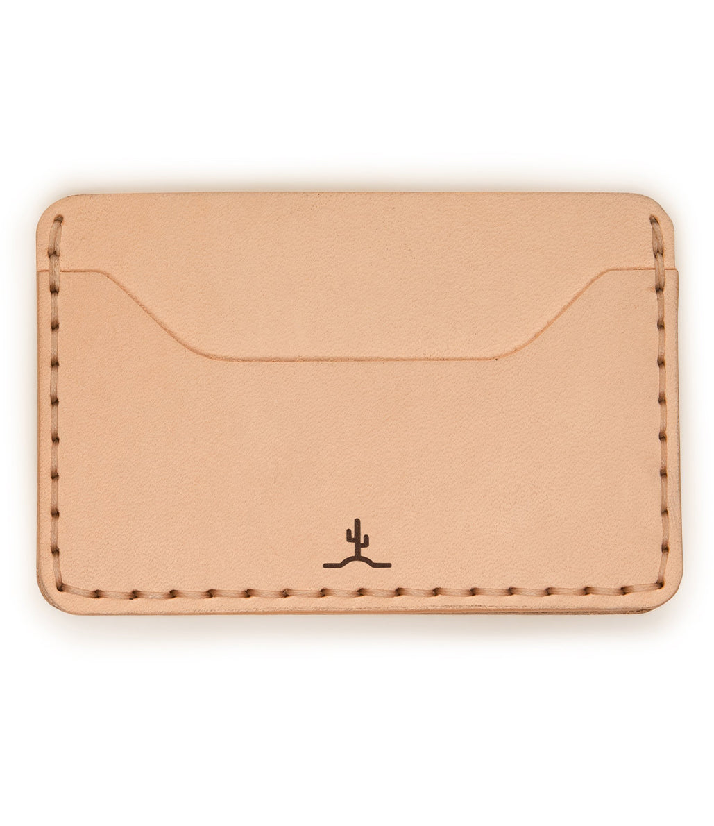 Slim Wallet Raw Veg Tan - Ships in 2+ Weeks