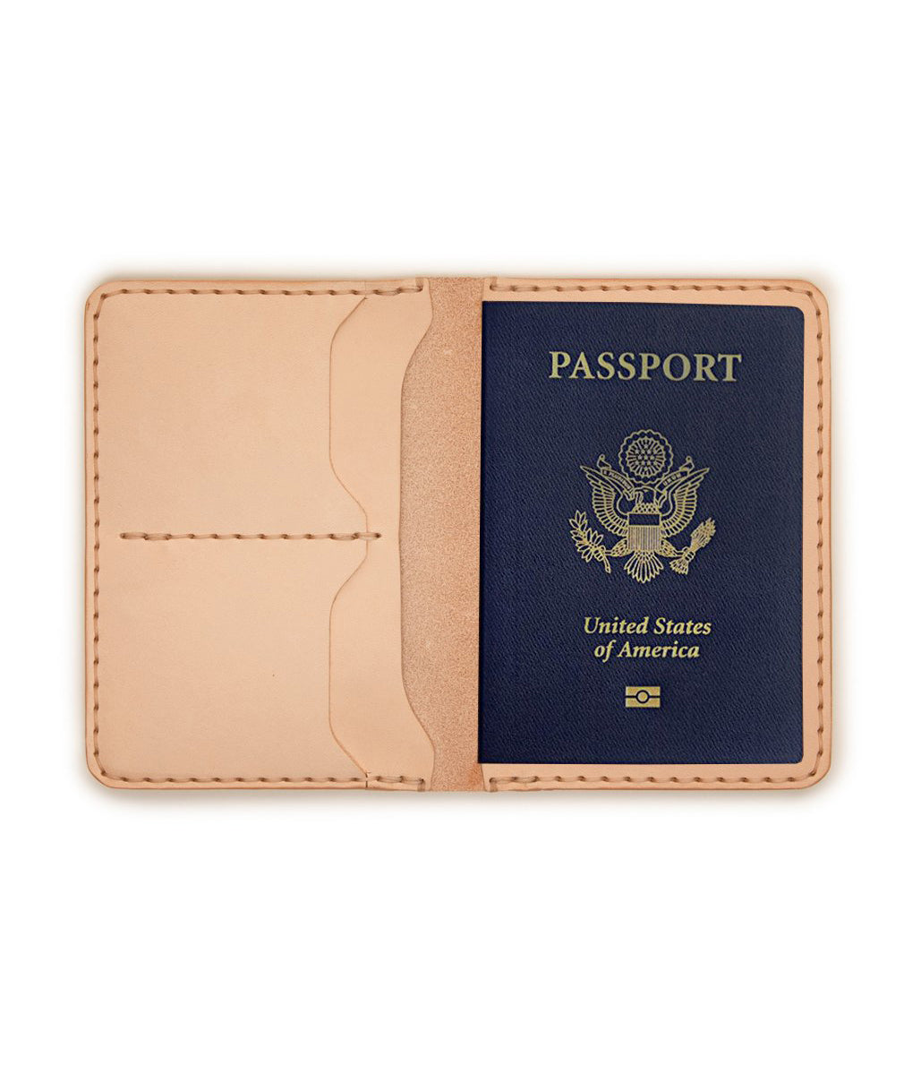 Passport Wallet Raw Veg Tan