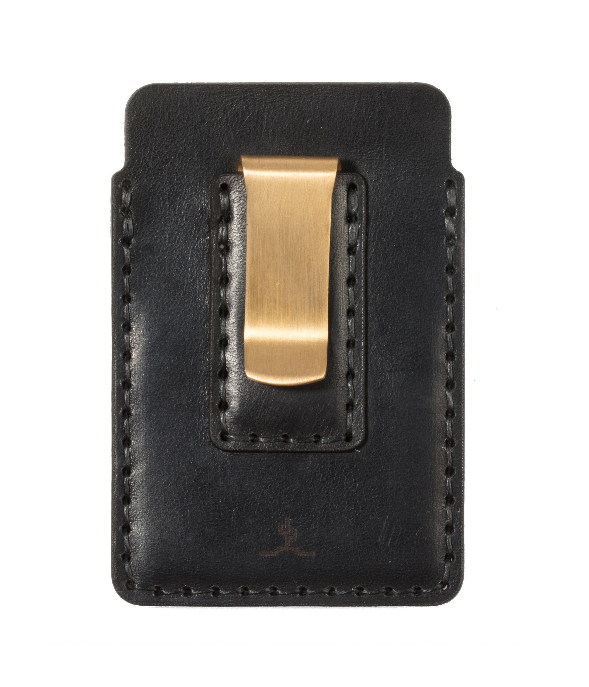 Simple Card Wallet with Money Clip // Black - Bexar Goods