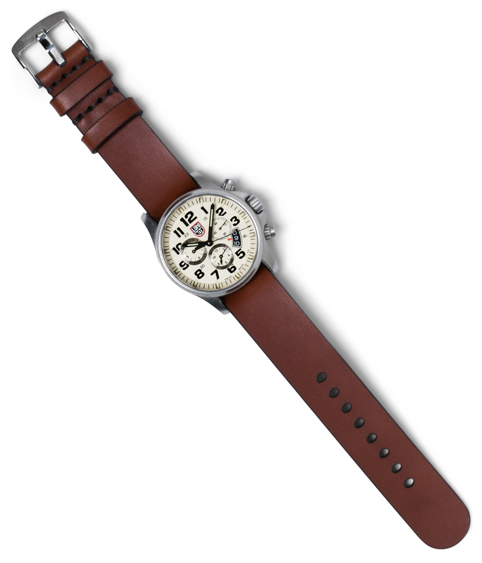 Simple Pass Thru Watch Strap // Medium Brown