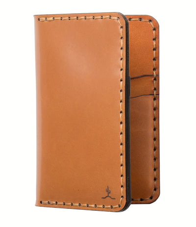 Vertical Wallet // Whiskey Cordovan