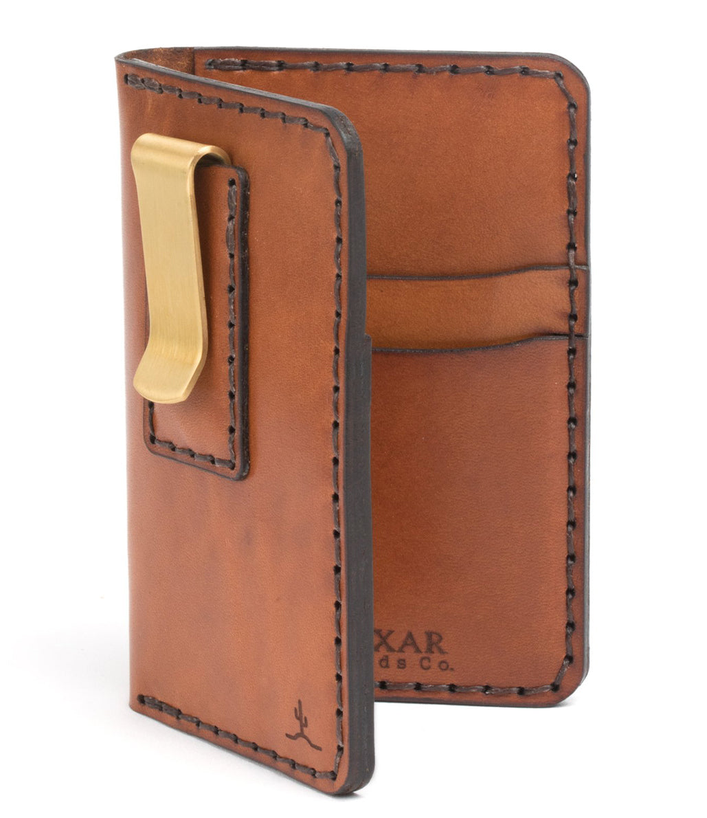Vertical Card Wallet with Money Clip - 4 week delay