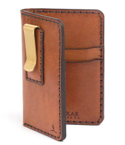 Vertical Card Wallet with Money Clip