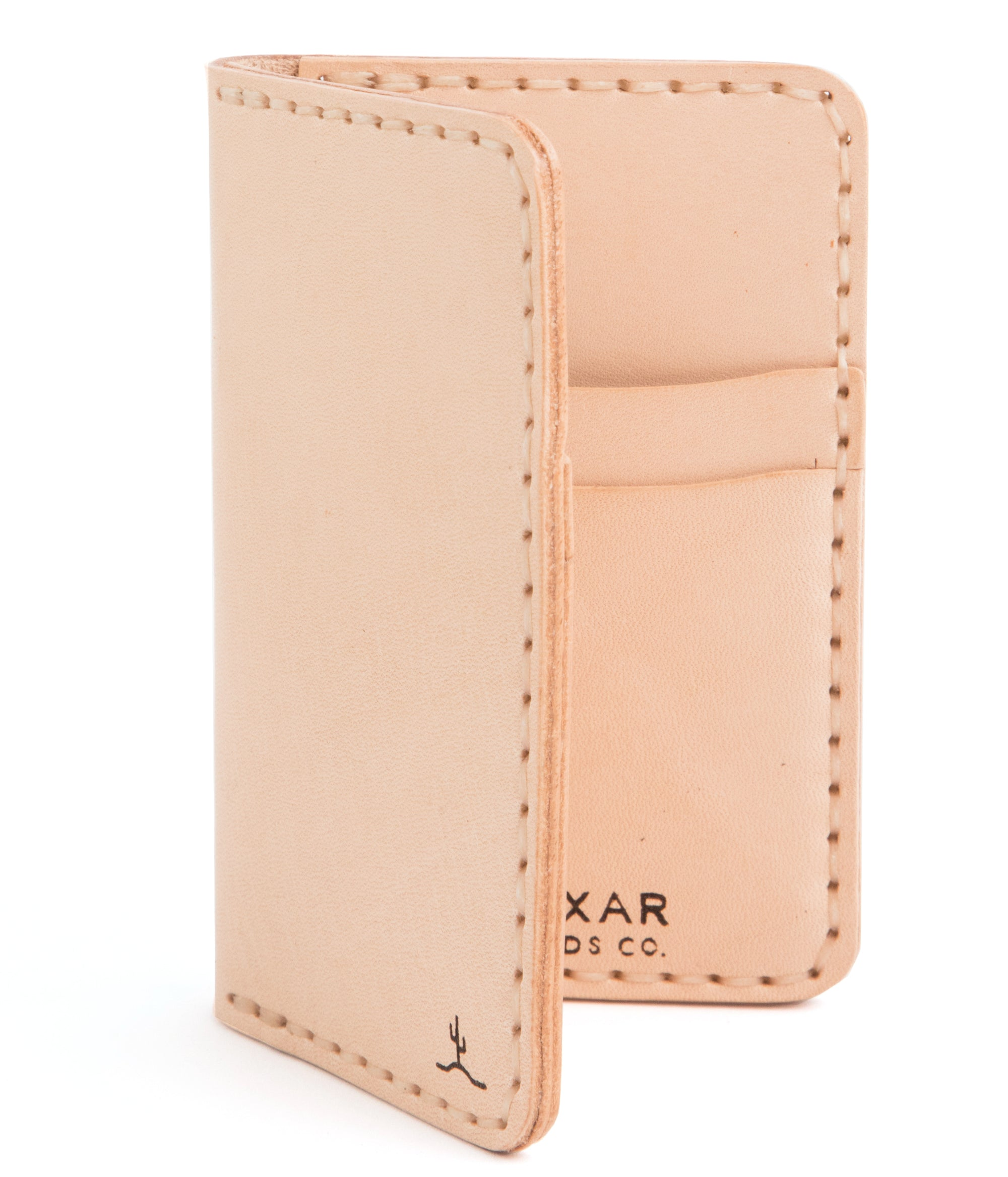 Vertical Card Wallet Raw Veg Tan