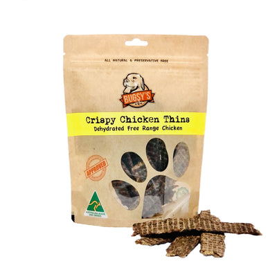 Bugsy Crispy Chicken Thins Healthy Dog Treats