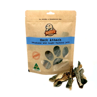 HEALTHY SNACKS | Australian 'Mack Attack' Mackerel Jerky Dog Treats