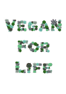 Vegan for life digital art print