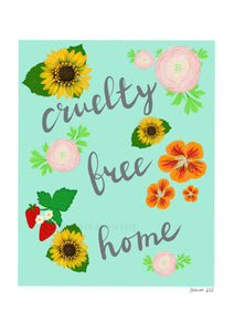 Cruelty free home digital art print
