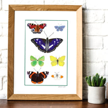 Load image into Gallery viewer, Rainbow of butterflies digital print