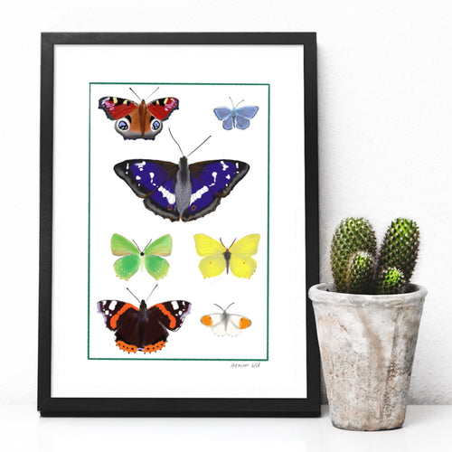 Rainbow of butterflies digital print