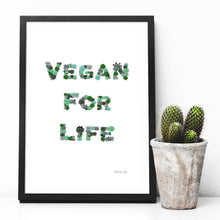 Load image into Gallery viewer, Vegan for life digital art print