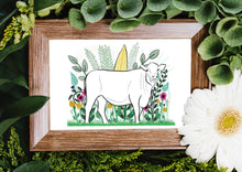 Load image into Gallery viewer, Cow Art Print