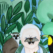 Load image into Gallery viewer, David Attenborough art print