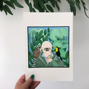David Attenborough art print