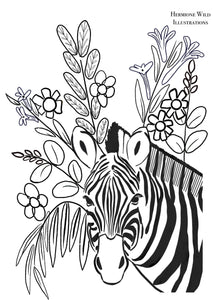 Zebra Colouring Sheet