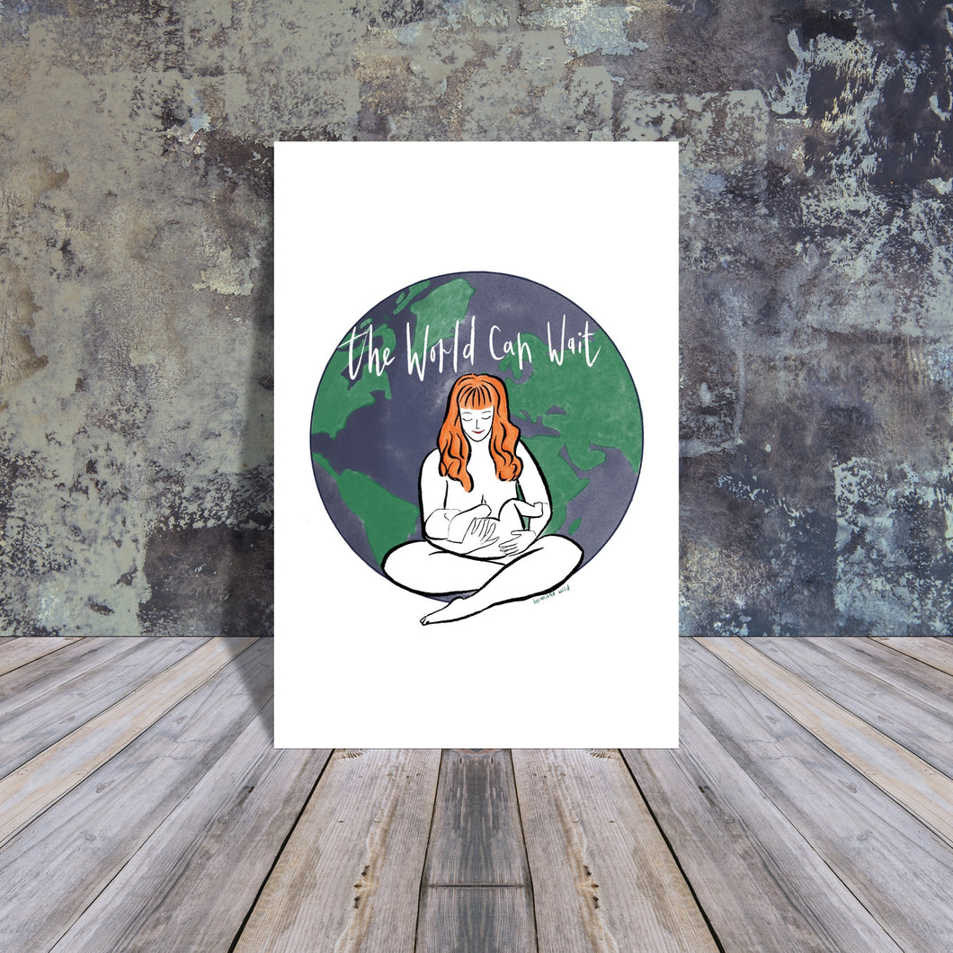 The World can wait giclee art print