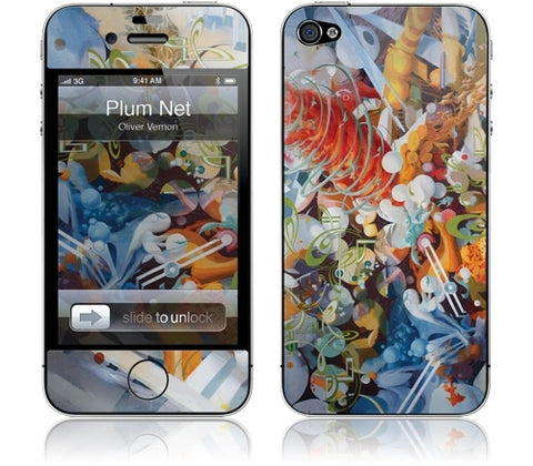 "GelaSkins Film ""Plum Net"" (Apple iPhone 4/4S)"