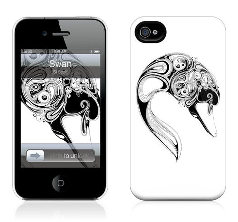 "GelaSkins HardCase ""Swan"" (Apple iPhone 4/4S)"