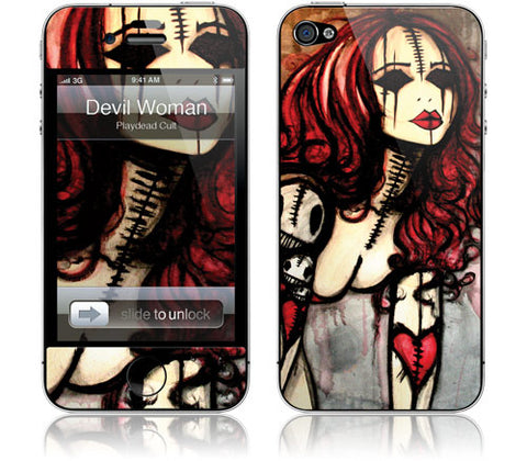 "GelaSkins Film ""Devil Woman"" (Apple iPhone 4/4S)"
